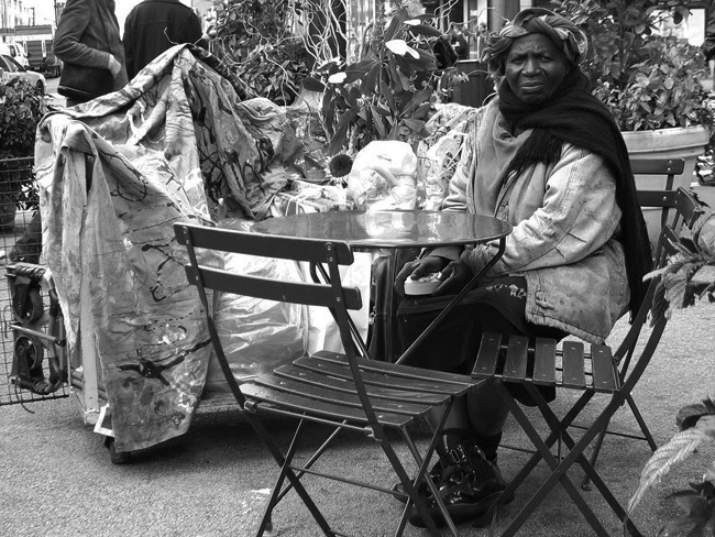 Homeless woman, Herald Square