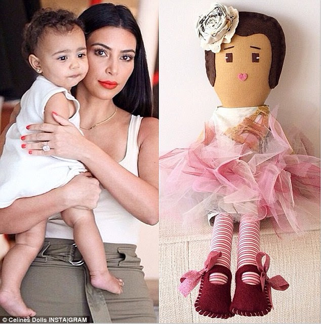 The full set: The doll designer also shared the North West doll which has a pink tutu and flower headband