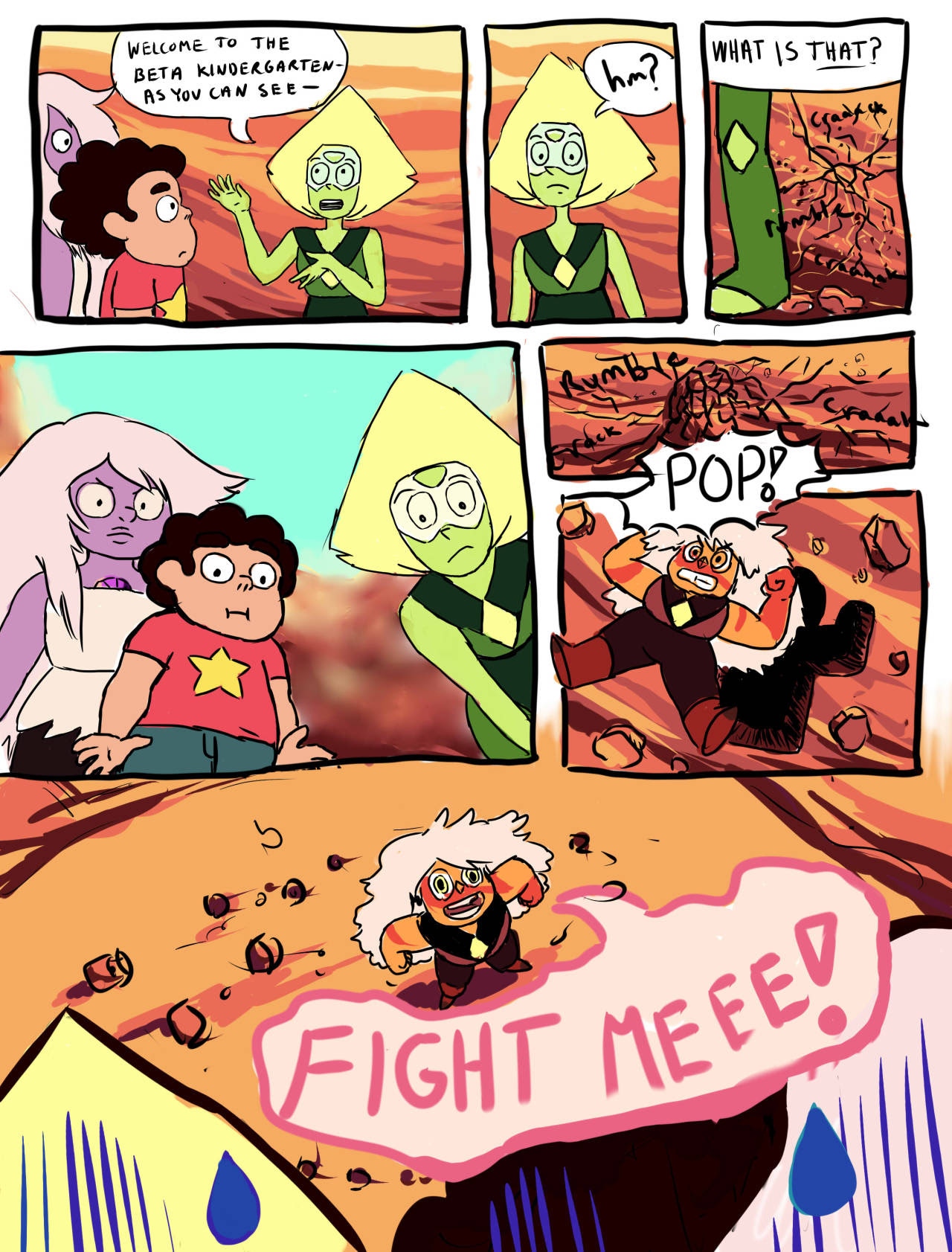 My partner pointed out to me that if that if Amethyst being overcoked make her smaller, then wouldn't a Jasper that is even more overcooked be even smaller?
