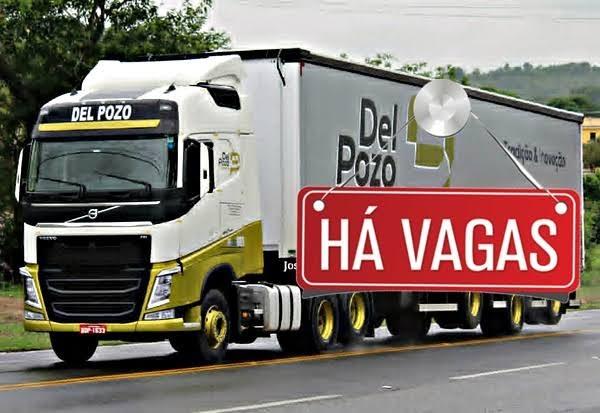 Transportadora Del Pozo abre vagas para Motorista