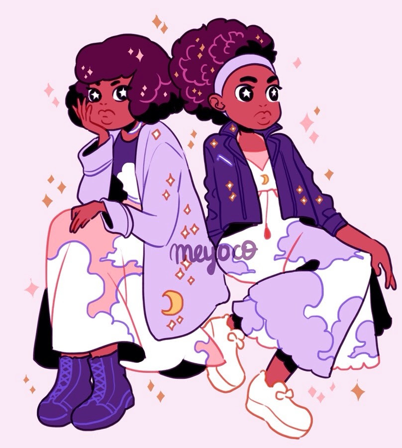 Coolest twins ✨🌙✨