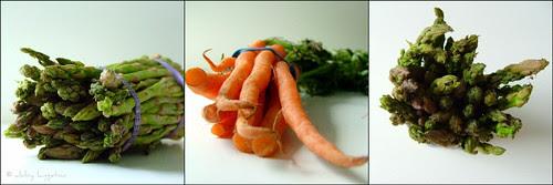 Roasted Spring Vegetables Over Sticky Rice