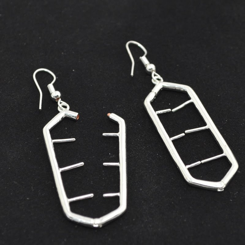 23641006-00 Findings - Earring - Interchangeable -  Ladder - Silver (Pair)
