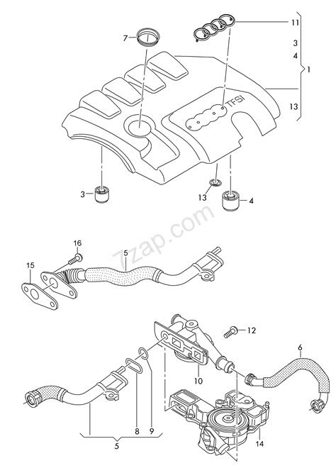 cover for engine compartment; ventilation for cyli... Audi