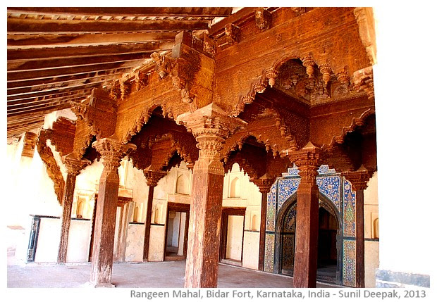 Rangeen mahal, Bidar fort, Karnataka, India - images by Sunil Deepak