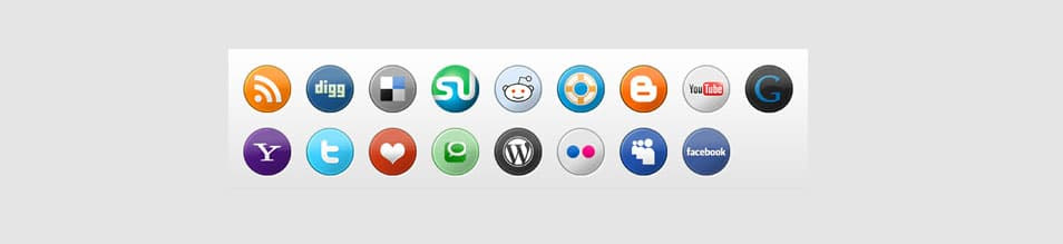 Simple Circular Social Media Icons Pack