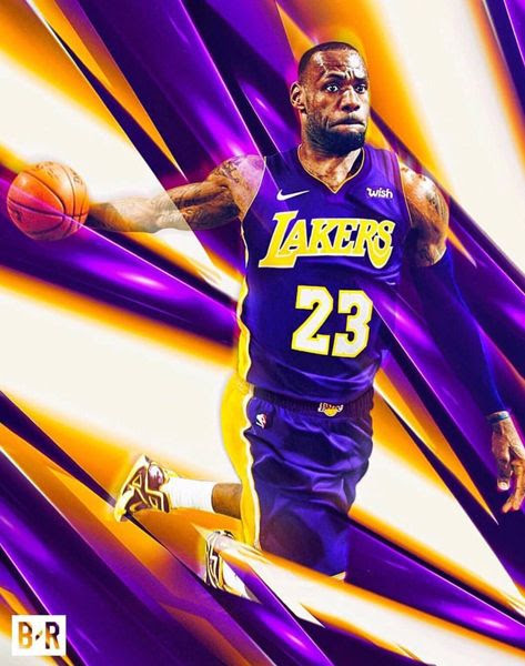 Amazing fan art of LeBron James in the purple and gold.
