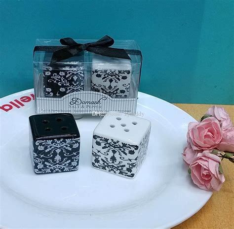 Wedding Favors Gifts For Guest Damask Ceramic Salt And