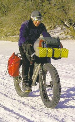 Lindsay Gauld has biked close to one million kilometres.
