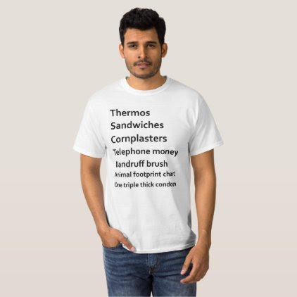 Dwayne Dibley's Check List T-Shirt