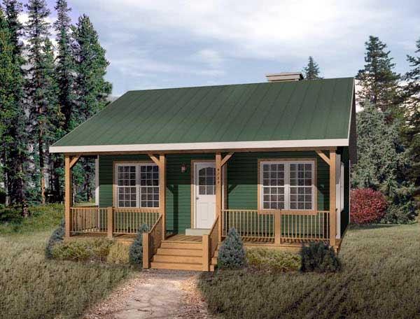 Casas de madera prefabricadas casas de campo con corredor for Viviendas de campo modernas
