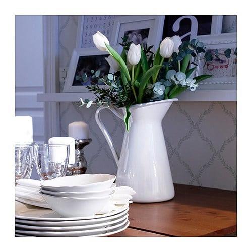 """SOCKERÄRT Vase white Height: 12 """" Volume: 125.1 oz  Height: 30 cm Volume: 3.7 l"""