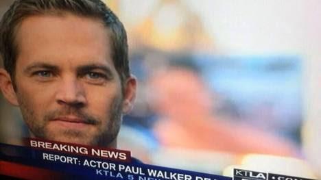 En pantalla. El canal KTLA5 de California interrumpió su programación para dar la triste noticia.