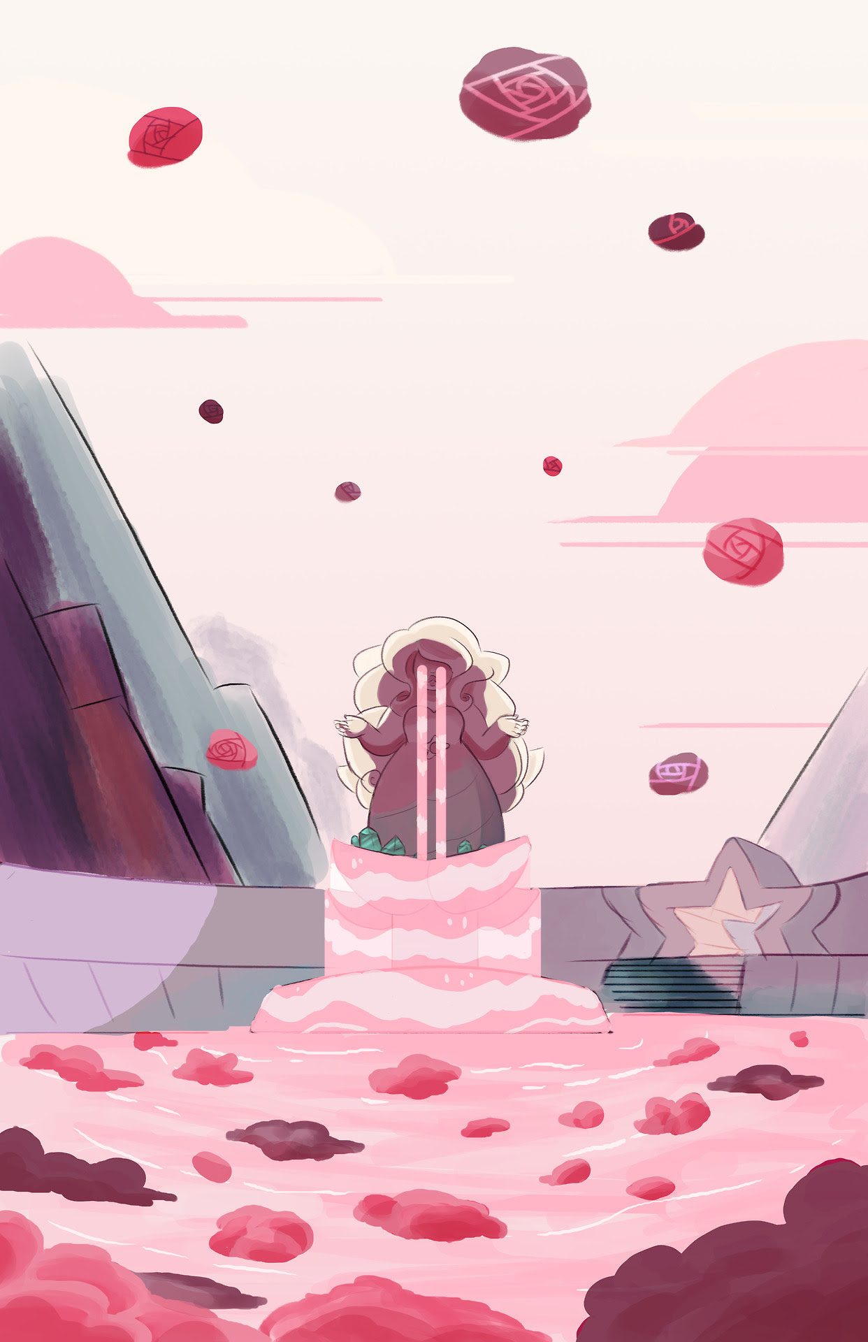 Here it is! My third print! I feel bad cause I havent watched SU in forever but I've always loved Rose's fountain