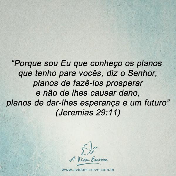 Os Planos De Deus A Vida Escreve