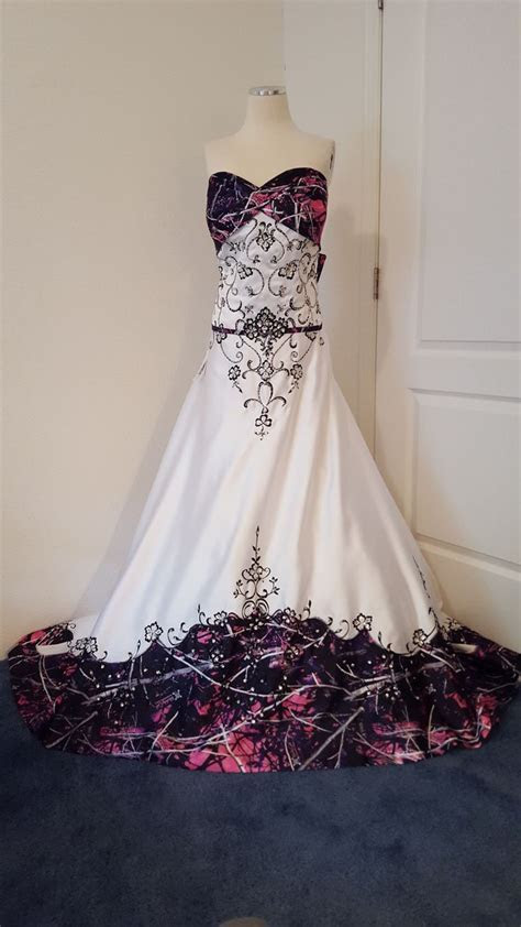 ANITA wedding gown, with Muddy Girl camo as the accent