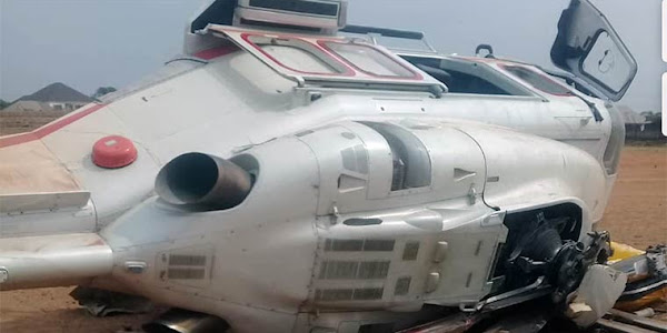 BREAKING : V.P Yemi Osinbajo's chopper crashes [PHOTOS]
