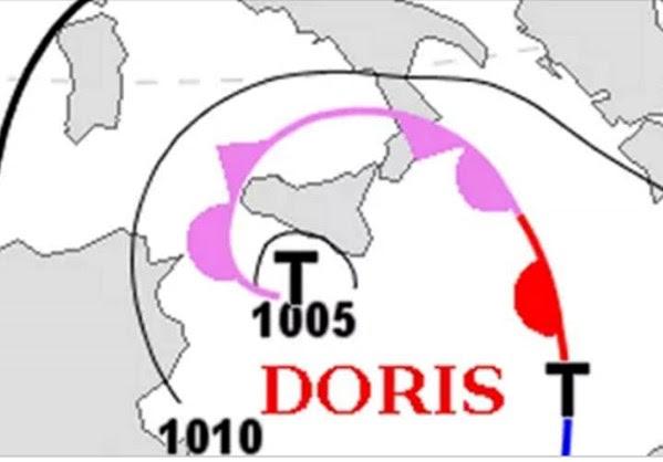 """Ο κυκλώνας """"Doris"""" θα χτυπήσει την Ελλάδα"""