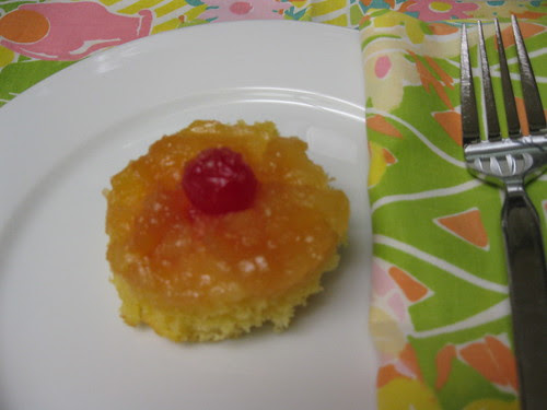 Finished Upside Down Pineapple Cupcake