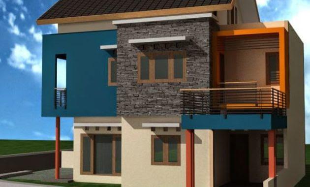 68 Gambar Rumah Tingkat Tanpa Warna HD Terbaru