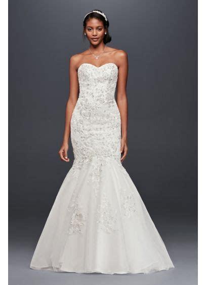 Metallic Beaded Lace Trumpet Wedding Dress   David's Bridal