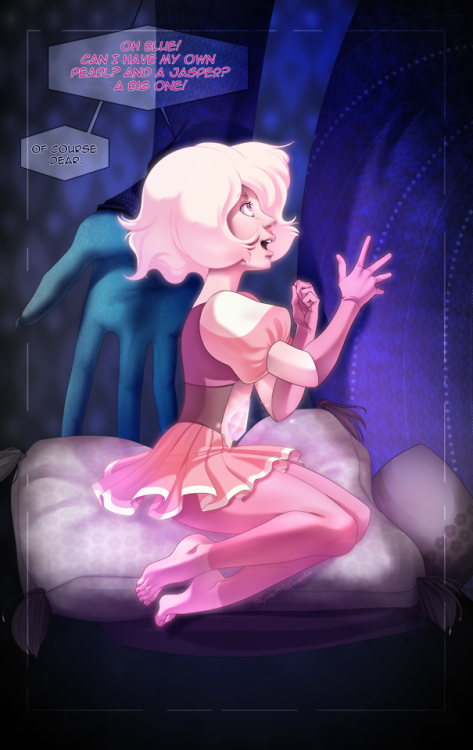 Got to draw Pink Diamond again, I wanted to portray her with Blue, as Blue would remember her. Hope you like it!