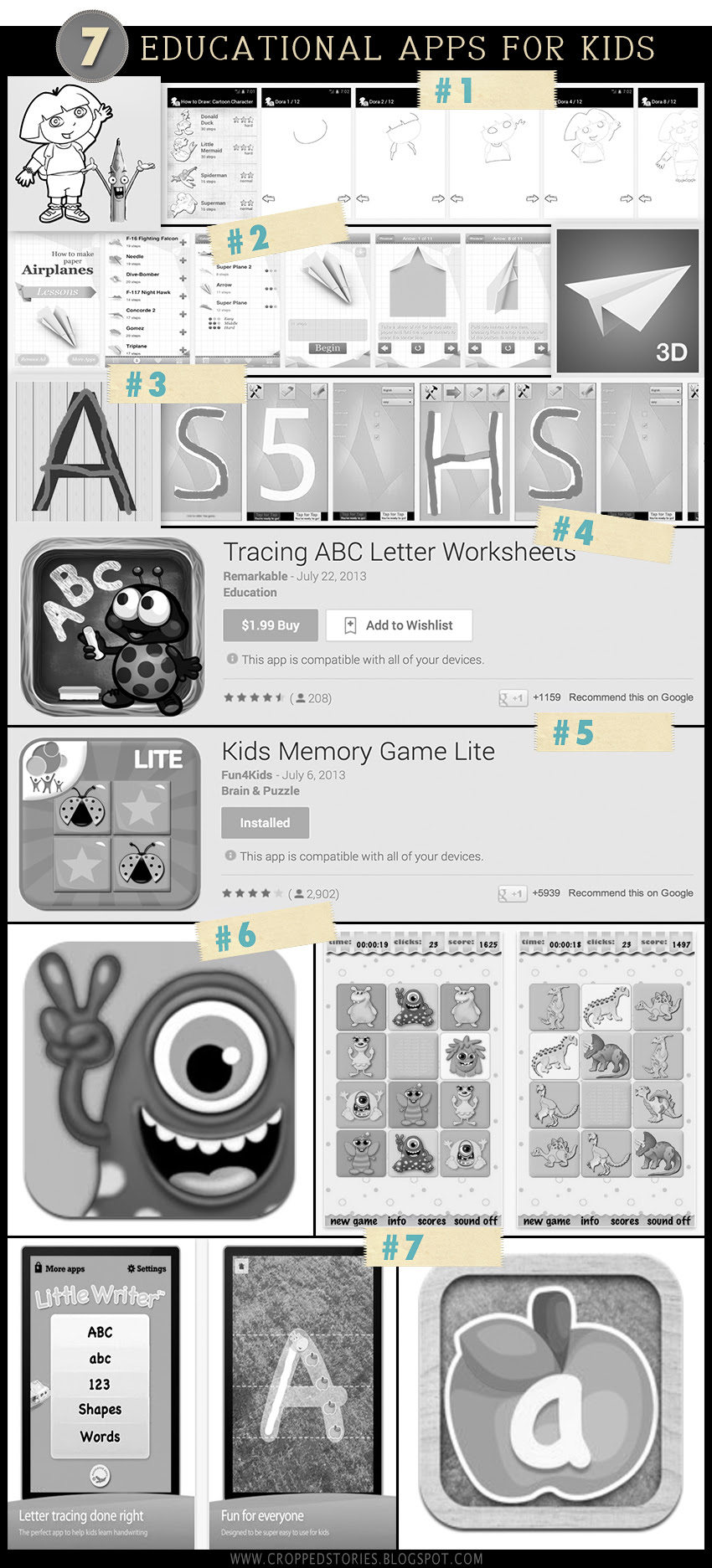 7 educational mobile applications for kids via Cropped Stories