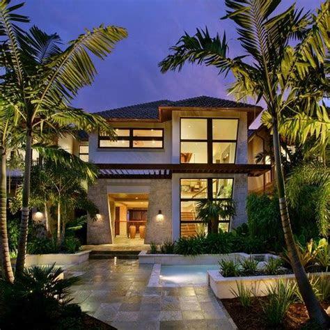 tropical house design ideas  pinterest