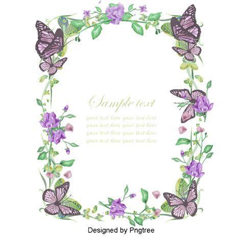Flowers Border Design Invitation, Retro Invitation