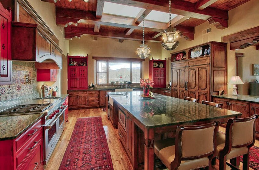 27 Red Kitchen Ideas (Cabinets & Decor Pictures ...