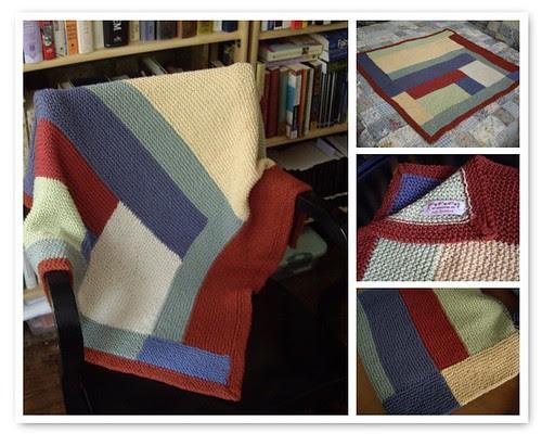 moderne log cabin blanket mosaic
