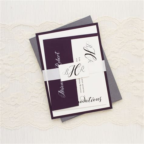Simple Calligraphy Customizable Modern Wedding Invitations