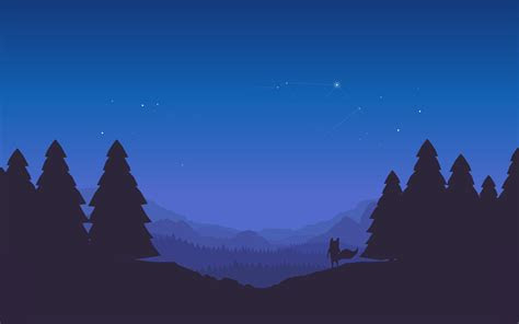 wallpaper mozilla firefox night forest landscape