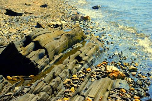 Watsons Farm rock and sea