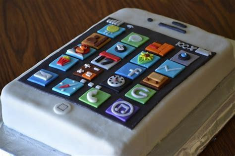iPhone Birthday Cake   For the kids   Pinterest   Birthday