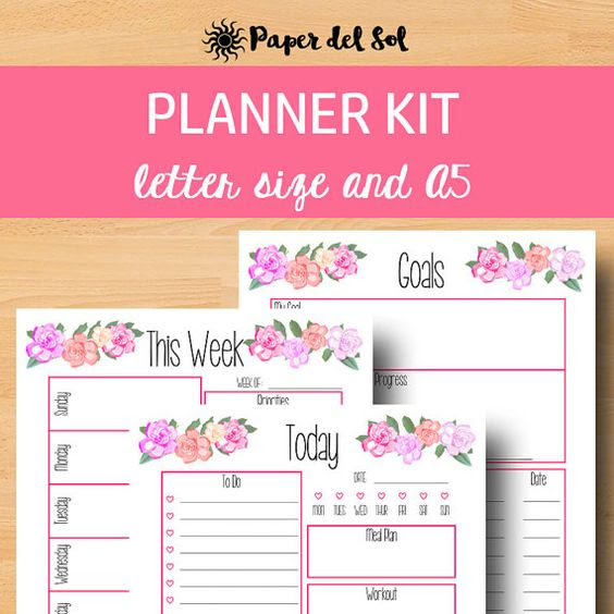 2017 Planner Printable Daily Planner Pages This 2017 printable a5 ...