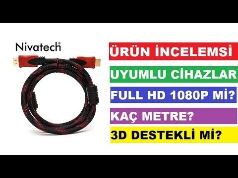 13Tl'ye aldığımız Nivatech HDMI FULL HD 1080P high quality kablo incelemesi