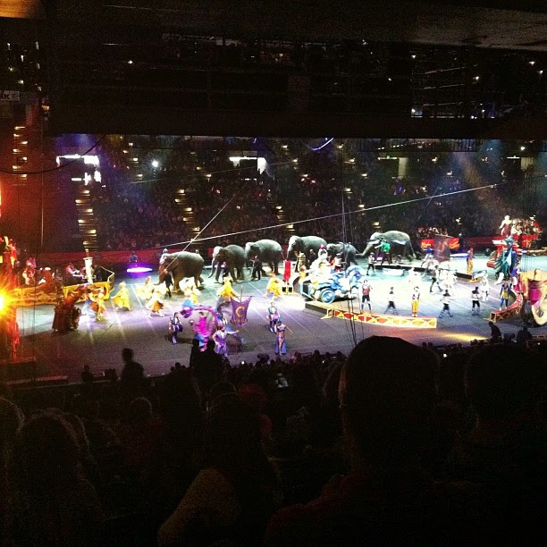 Circus with the boys... #ringlingbroscircus,