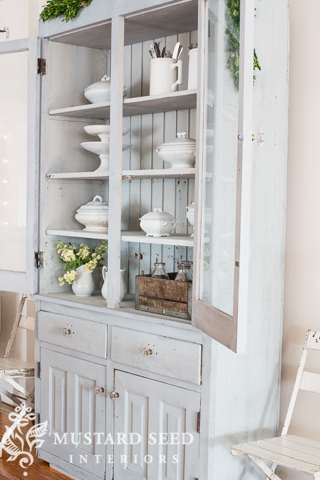 Milk Paint Hutch from Miss Mustard Seed | Friday Favorites at www.andersonandgrant.com