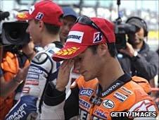 Dani Pedrosa (front) and Jorge Lorenzo (back)