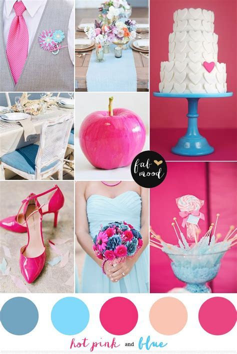 Blue and hot pink wedding colors   Wedding bliss    Pink
