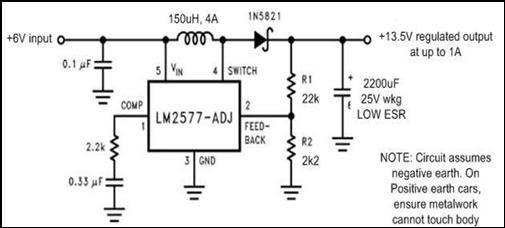 Newyork Gps  6v To 12v Converter Circuit Diagram
