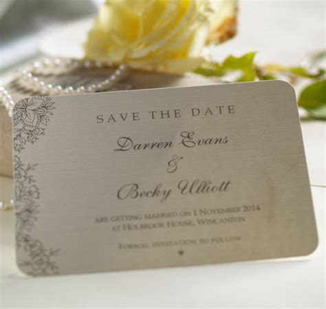 'vintage lace' wedding save the date cards by beautiful