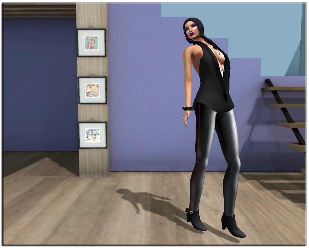 Lavender Diva in Black