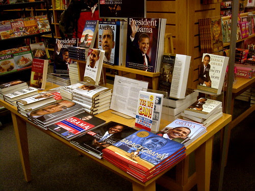 Bookstore shrine to Obama