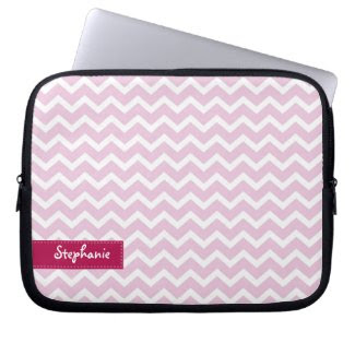Lilac Zig Zag Chevrons Pattern Laptop Sleeves