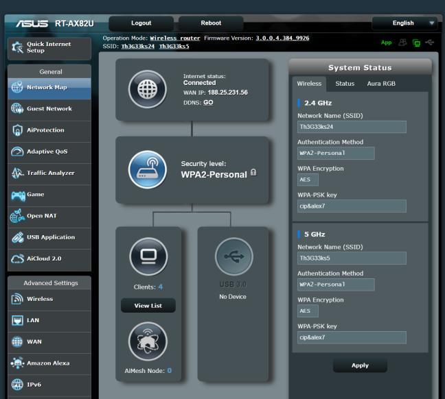 El firmware ASUS RT-AX82U