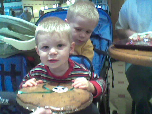 eating the giant cookie at disney 3