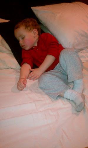 Fell asleep on mommas bed. Too many donuts? by aviva_hadas