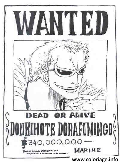 Images For Coloriage A Imprimer One Piece Wanted